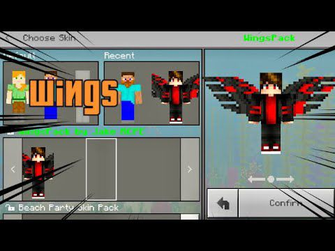 Minecraft Wings Skin Pack By Timberhines123 Free Download On Toneden